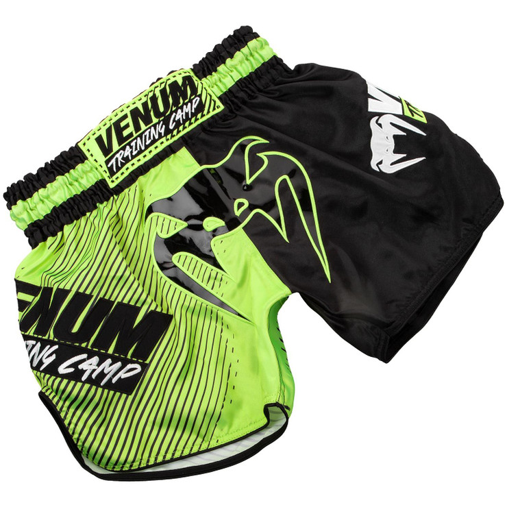 Venum Training Camp Muay Thai Shorts Black/Neo Yellow
