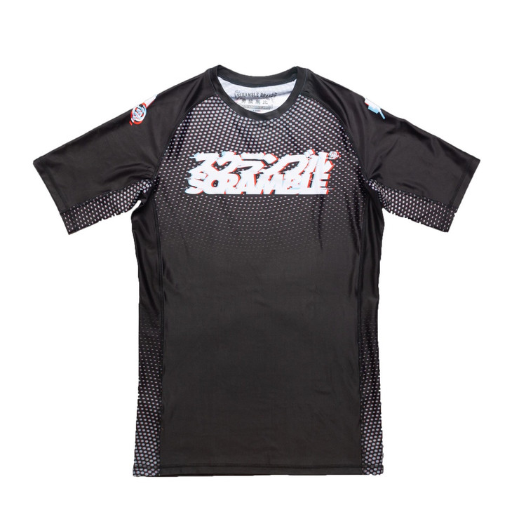 Scramble Glitch Short Sleeved Rash Guard