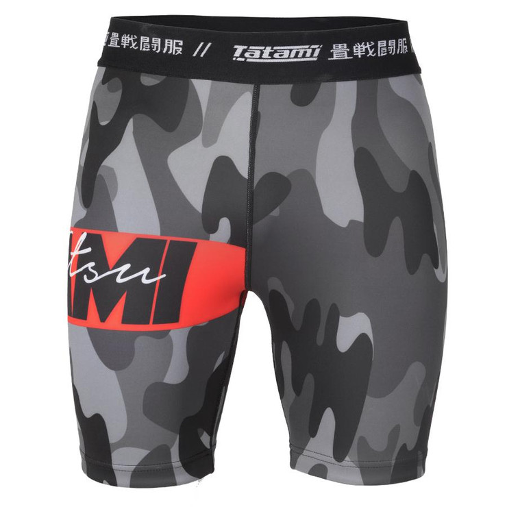 Tatami Fightwear Red Bar Camo VT Shorts
