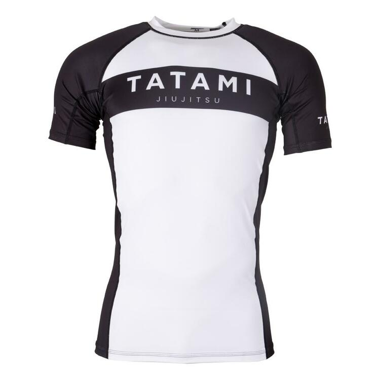Tatami Fightwear Original Short Sleeve Rash Guard White/Black