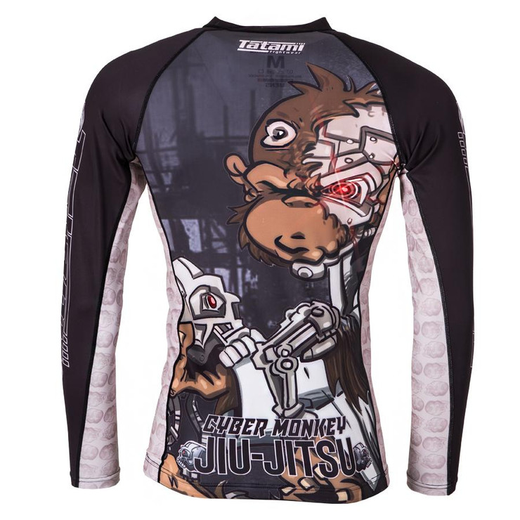 Tatami Fightwear Cyber Thinker Monkey Long Sleeve Rash Guard