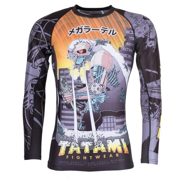 Tatami Fightwear Cyber Honey Badger Long Sleeve Rash Guard