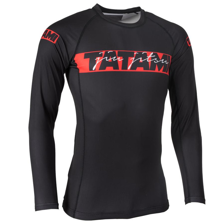 Tatami Fightwear Red Bar Long Sleeve Rash Guard