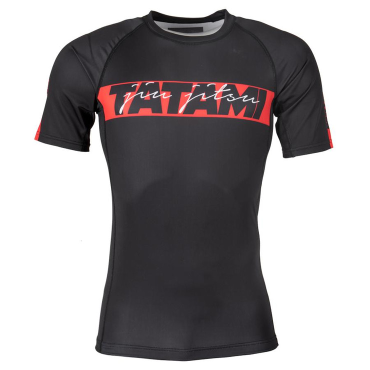 Tatami Fightwear Red Bar Short Sleeve Rash Guard
