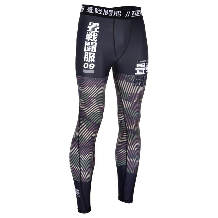 Tatami Fightwear Essential Camo Spats Black/Green