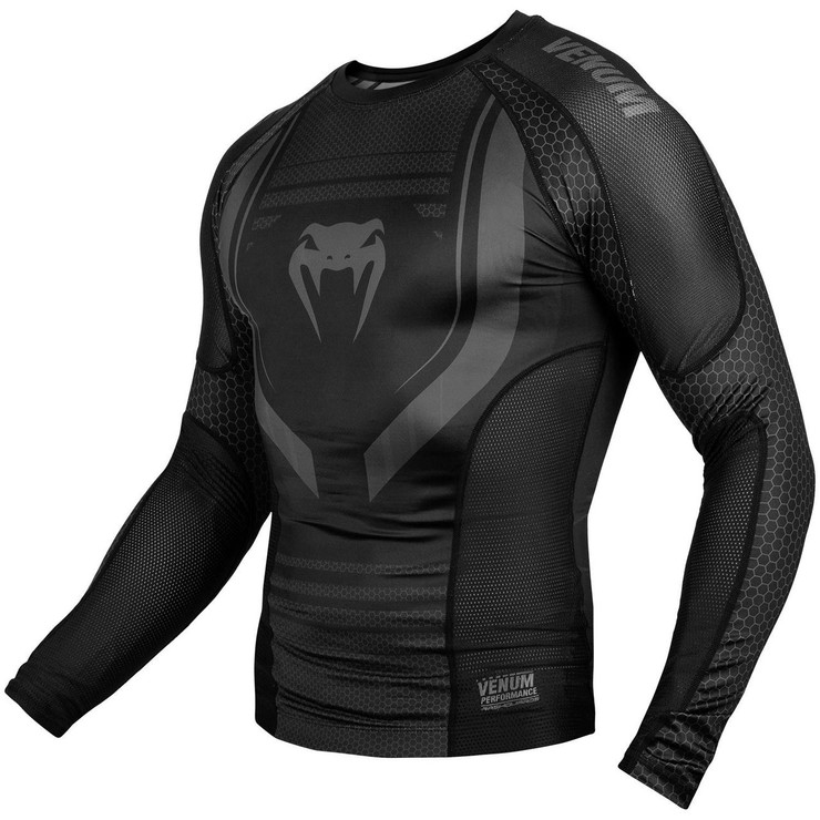 Venum Technical 2.0 Long Sleeve Rash Guard Black/Black