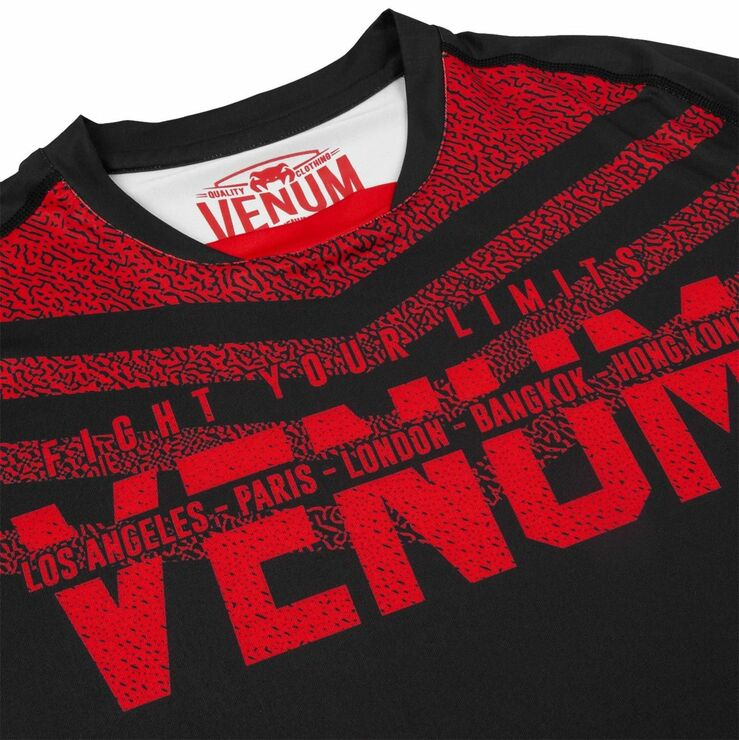 Venum Signature Dry Tech T-Shirt Black/Red