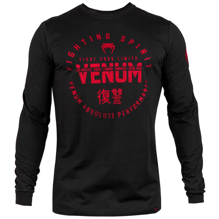 Venum Signature Long Sleeve T-Shirt Black/Red