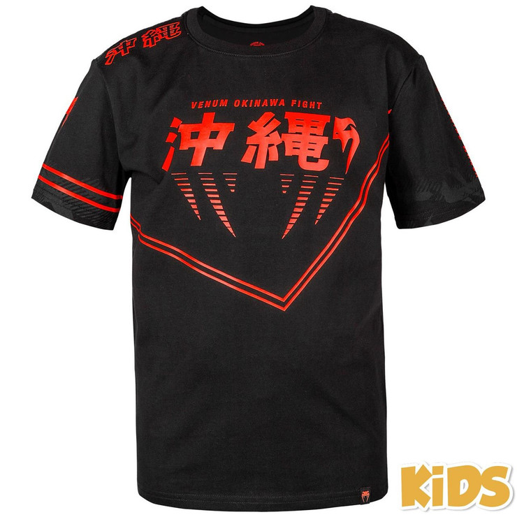 Venum Okinawa 2.0 Kids T-Shirt Black/Red