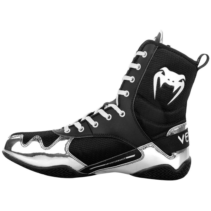 Venum Elite Boxing Boots Black/Silver