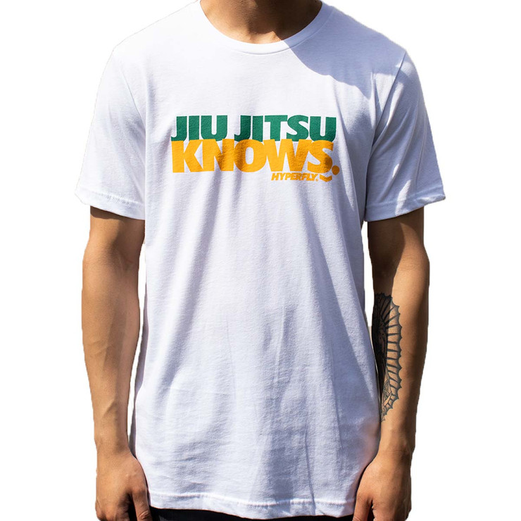 Hyperfly Jiu Jitsu Knows T-Shirt White