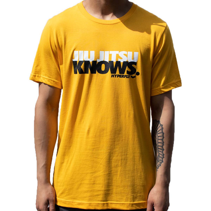 Hyperfly Jiu Jitsu Knows T-Shirt Yellow