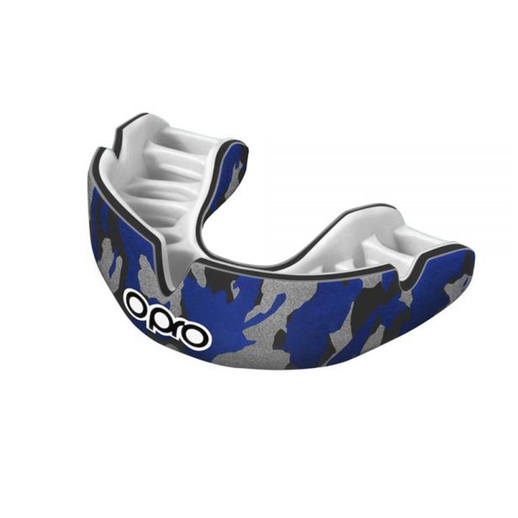 Opro Power Fit Camo Black/Blue/Silver
