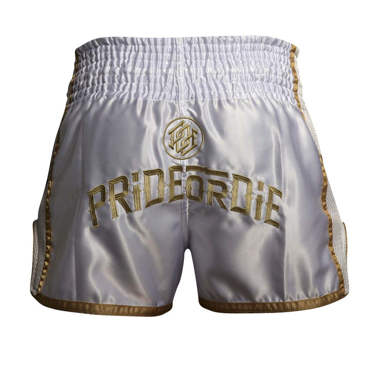 Pride or Die Unleashed Muay Thai Short White/Gold
