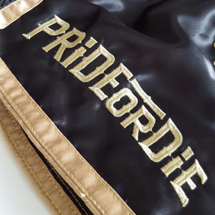 Pride or Die Unleashed Muay Thai Short Black/Gold