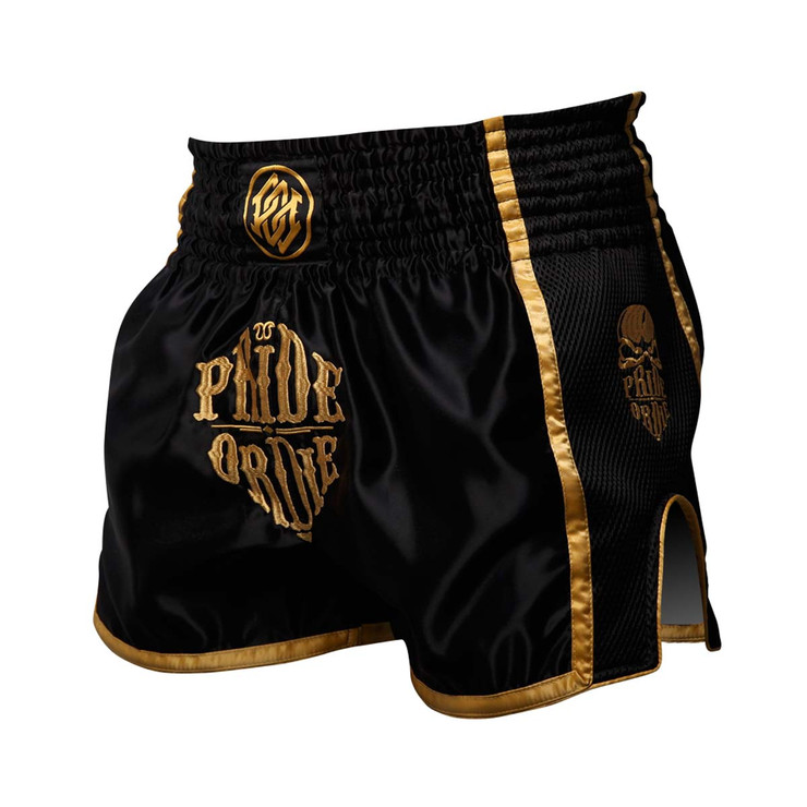 Pride or Die Reckless Muay Thai Short Black/Gold