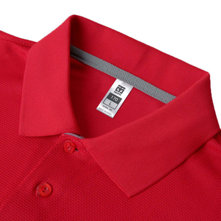 Mooto Cool Ceramic Polo Shirt Red