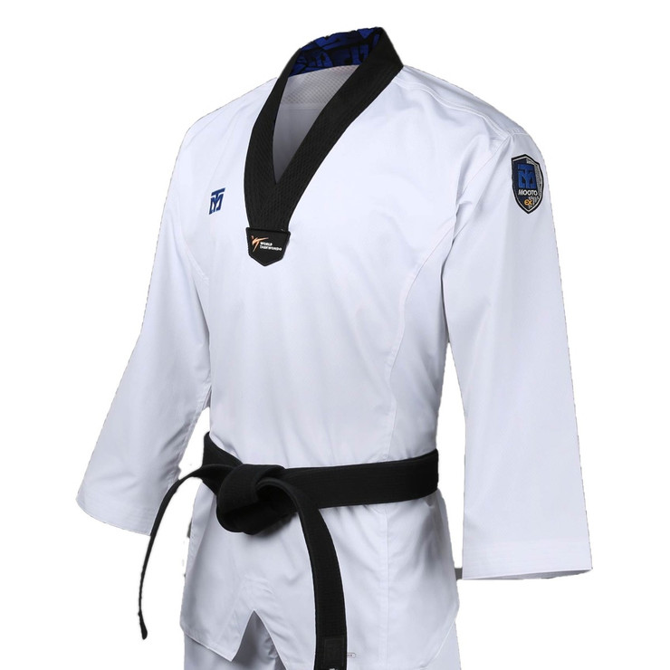 Mooto Extera S6 Kids Taekwondo Uniform Black Neck