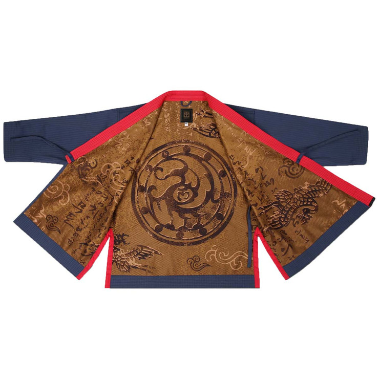 Mooto Grand Master Geum Gang Uniform Navy with Black Neck