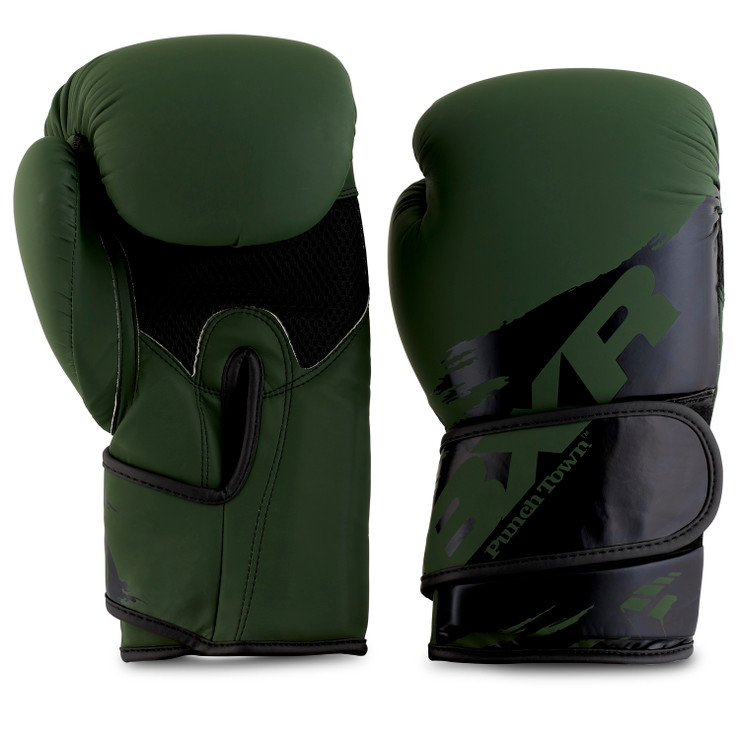 PunchTown BXR KR Boxing Glove Olive/Black