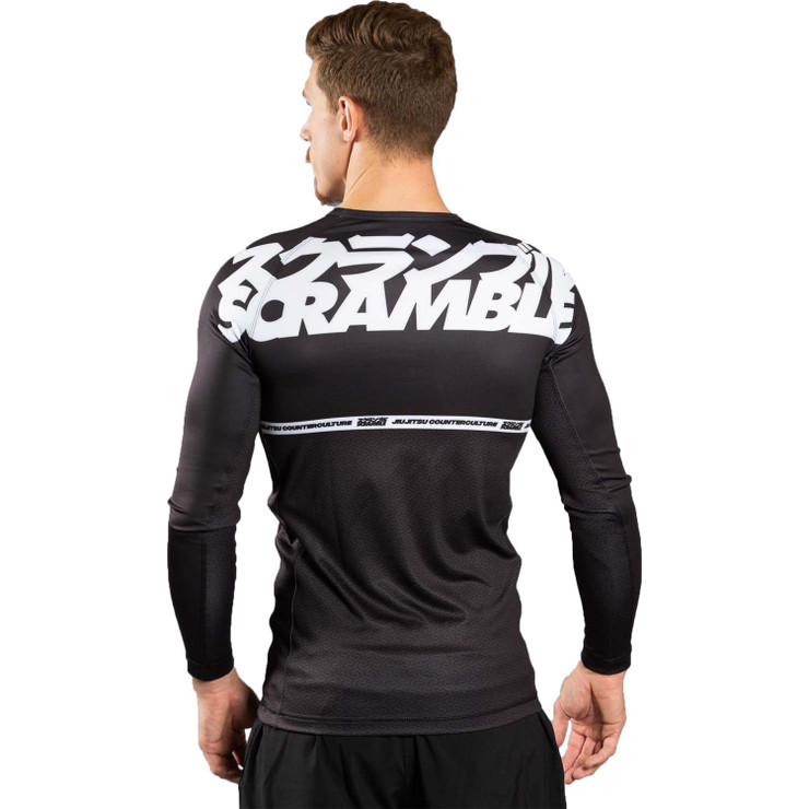 Scramble Ranked V4 Rash Guard  Black