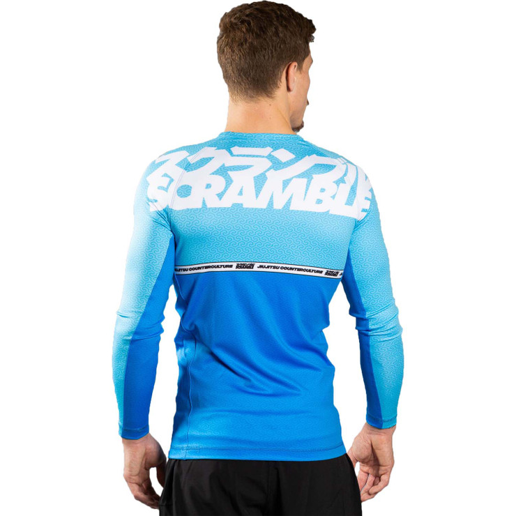 Scramble Ranked V4 Rash Guard  Blue