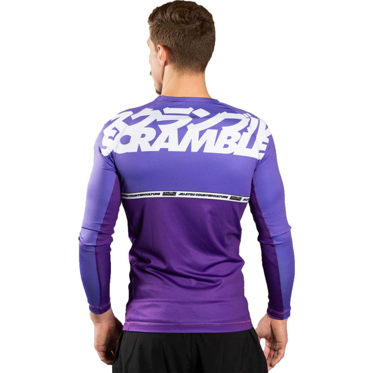 Scramble Ranked V4 Rash Guard  Purple