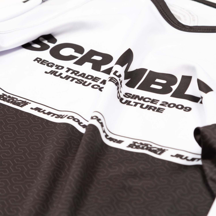 Scramble Ranked V4 Rash Guard White