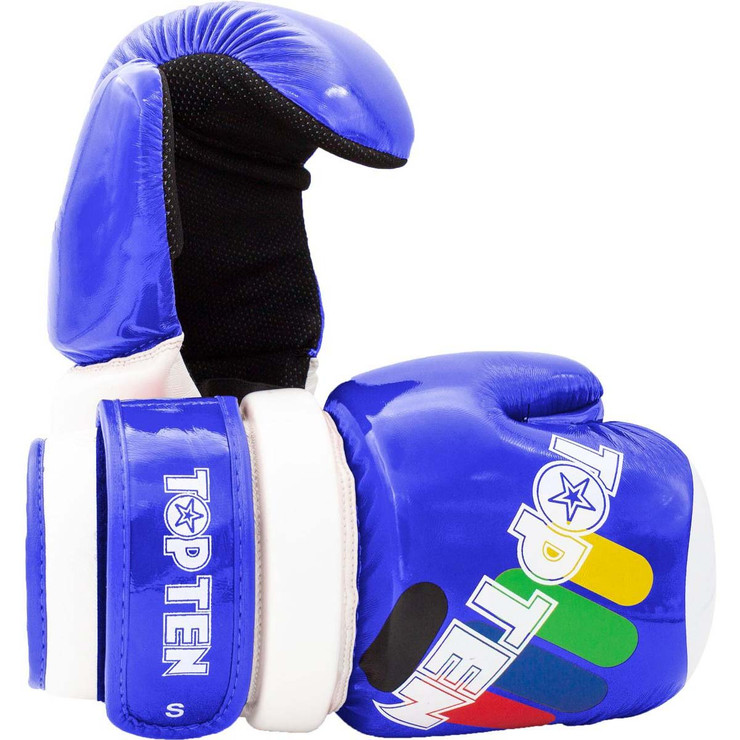 Top Ten Glossy Block ITF Pointfighter Glove Blue