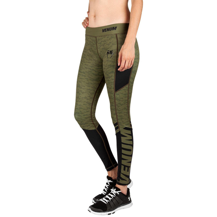 Venum Womens Power 2.0 Leggings Khaki/Black