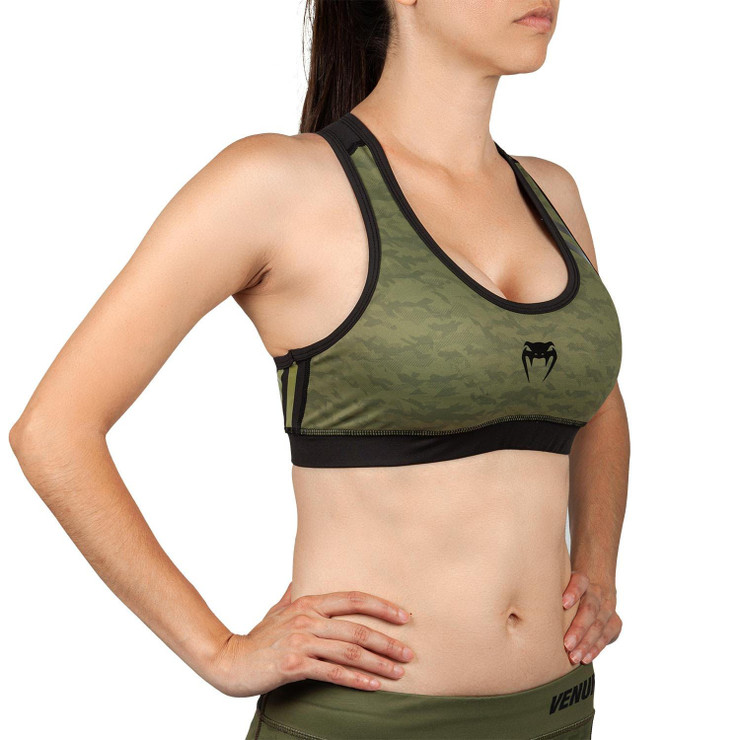 Venum Womens Power 2.0 Sports Bra Khaki/Black