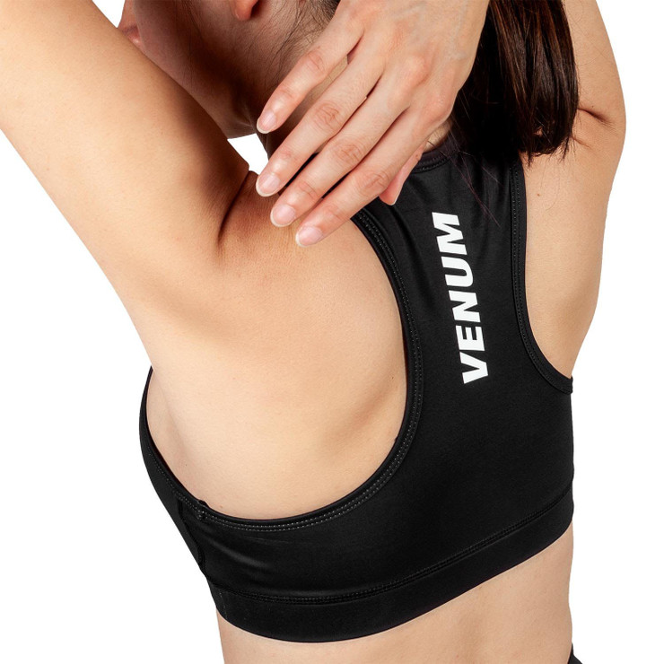 Venum Womens Rapid 2.0 Sports Bra Black/White