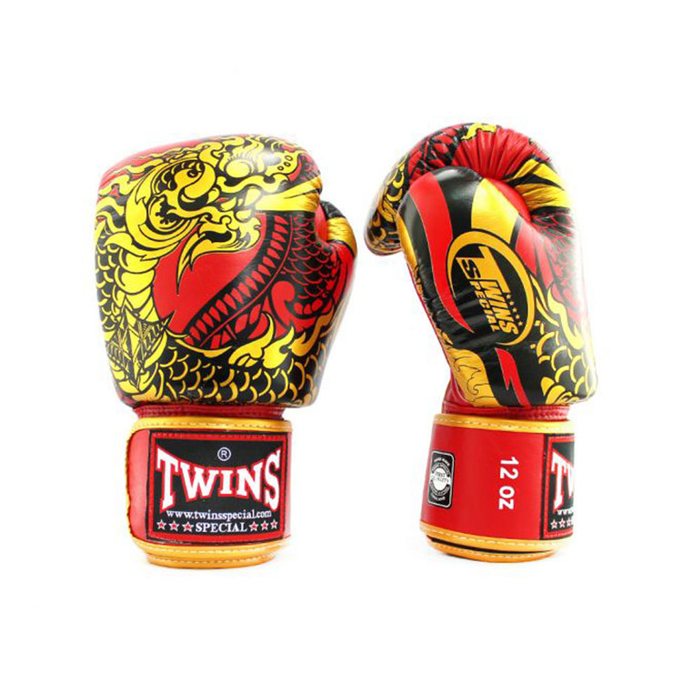 Twins FBGVL3-52 Nagas Boxing Gloves Red/Gold