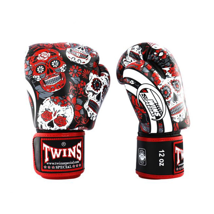 Twins FBGVL3-53 Skull Boxing Gloves Red