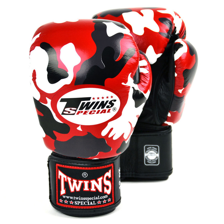 Twins FBGVL3-AR Camo Boxing Gloves Red
