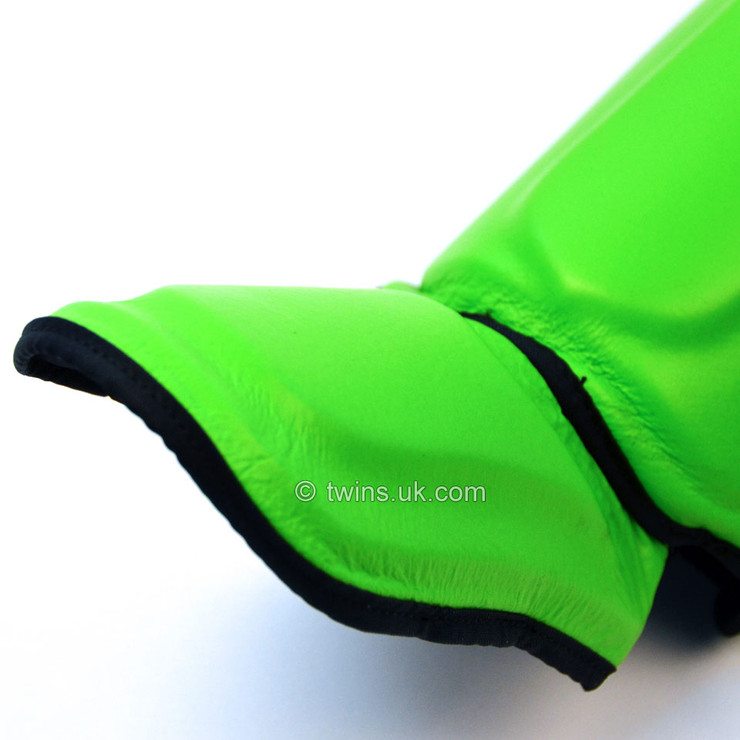 Twins SGL10 Double Padded Leather Shin Pads Green