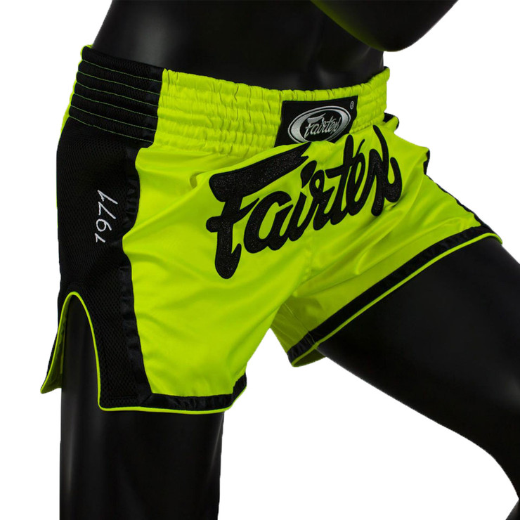 Fairtex BS1706 Slim Cut Muay Thai Shorts Green