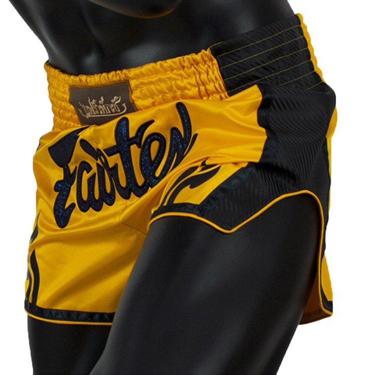 Fairtex BS1701 Slim Cut Muay Thai Shorts Yellow
