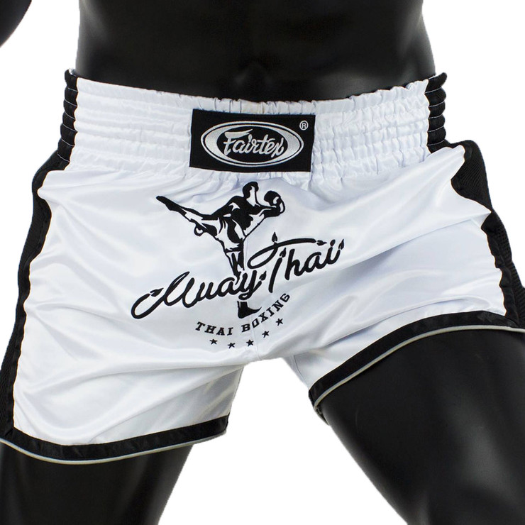 Fairtex BS1707 Slim Cut Muay Thai Shorts White