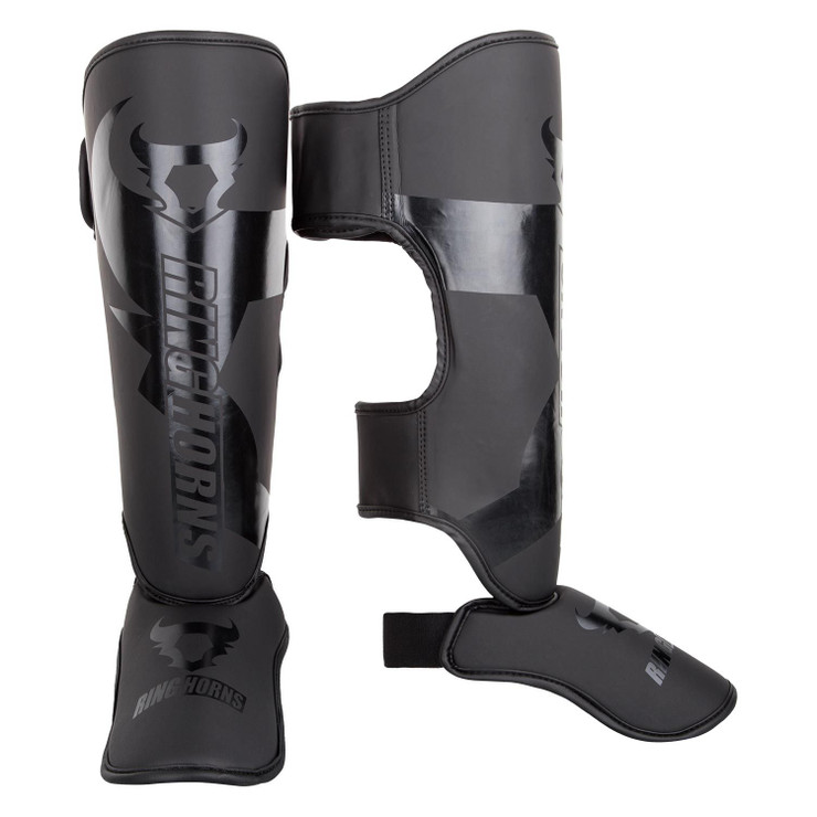 Ringhorns Charger Shin/Instep Guards Black/Black