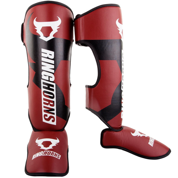 Ringhorns Charger Shin/Instep Guards Red