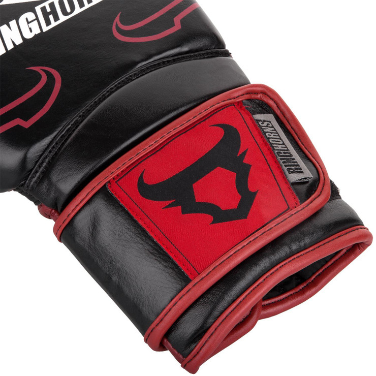 Ringhorns Destroyer Leather Boxing Gloves Black/Red
