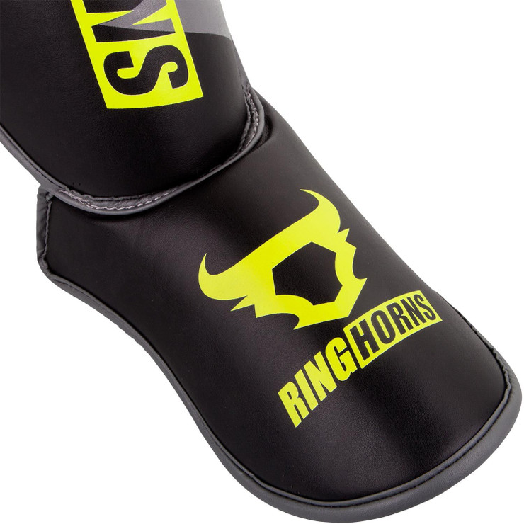 Ringhorns Charger Shin/Instep Guards Black/Yellow