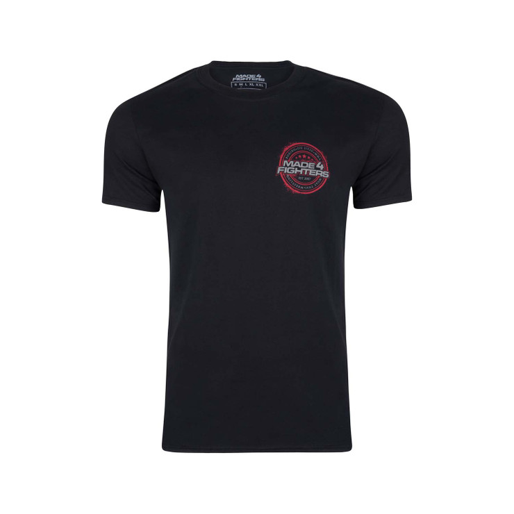 Made4Fighters Grunge T-Shirt Black/Red
