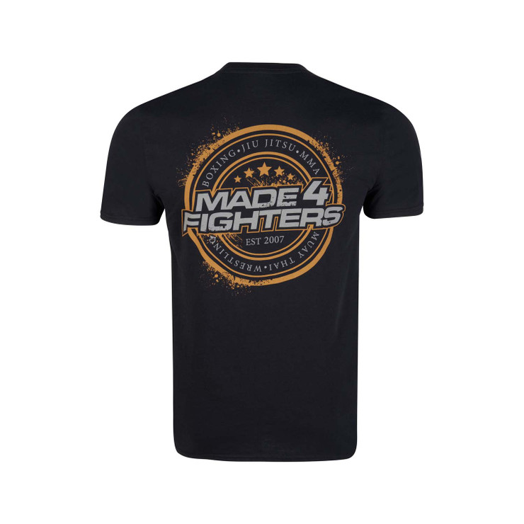 Made4Fighters Grunge T-Shirt Black/Yellow
