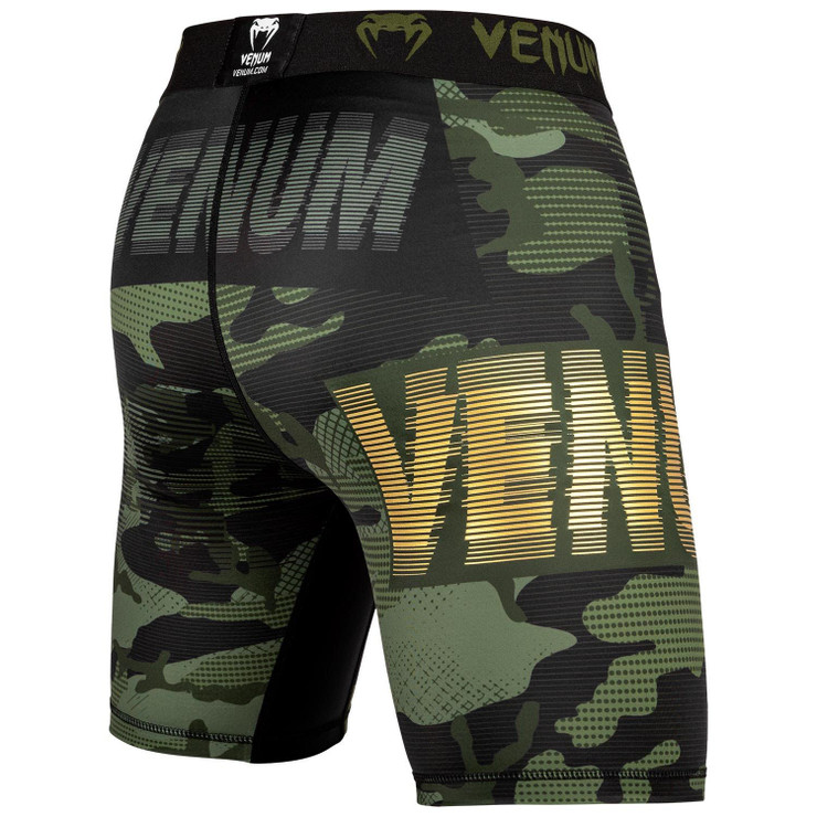 Venum Tactical Compression Shorts Khaki/Black/Gold