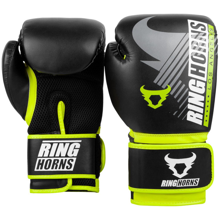 Ringhorns Charger MX Boxing Gloves Black/Neo Yellow
