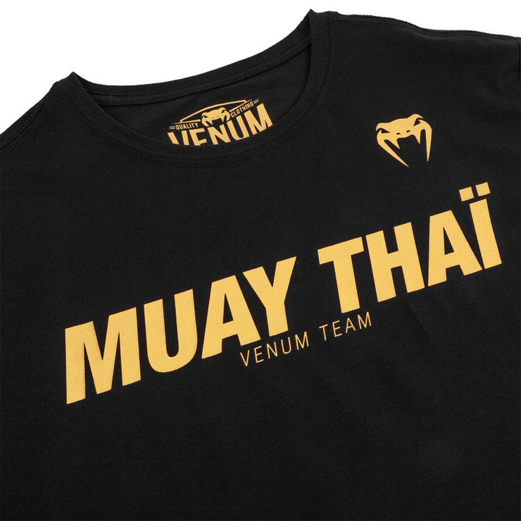 Venum Classic Muay Thai T-Shirt Black/Gold