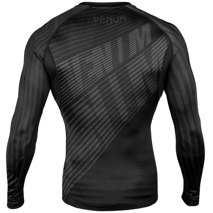 Venum Plasma Long Sleeve Rash Guard Black/Black