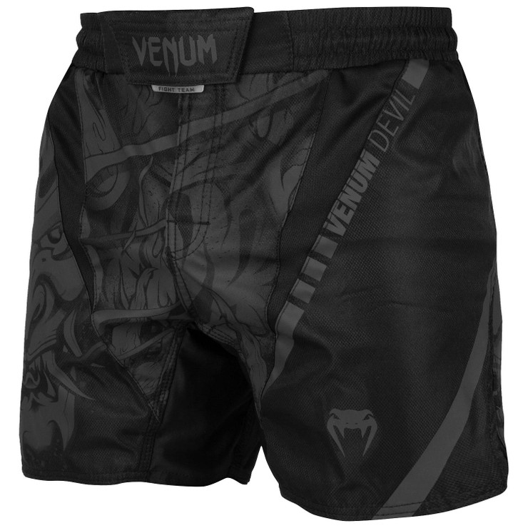 Venum Devil Fight Shorts Black/Black